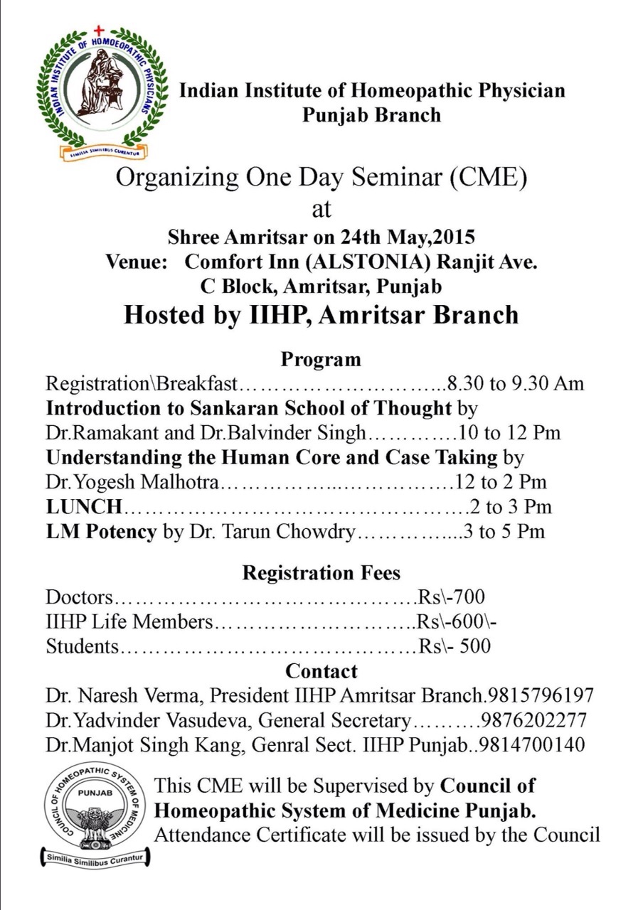 Council Of Homoeopathic System Of Medicines Punjab